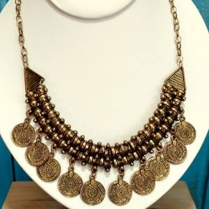 reversible coin charm necklace
